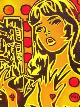 Comic Girl by Abstract Graffiti
