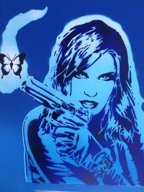 Girls Guns and Butterflies by Abstract Graffiti