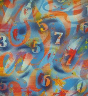 Numbers by Abstract Graffiti
