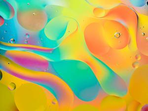 Abstract Colorful Background, Oil Drops on Water by Abstract Oil Work