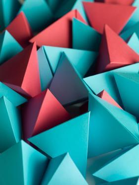 Abstract Wallpaper Consisting of Multicolored Pyramids by Abstract Oil Work
