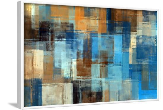 Abstract Painting. Colored Grunge Background-Husjak-Framed Art Print