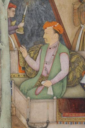 Detail from Emperor Jahangir with Holy Men in a Garden, C.1615
