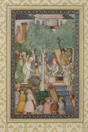 Emperor Jahangir with Holy Men in a Garden, C.1615
