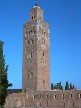 Tower of Koutoubia Mosque in Marrakech, 12th century