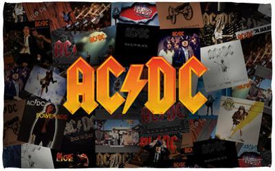 AC/DC - Album Collage Beach Towel
