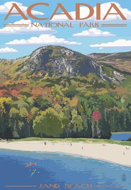 Acadia National Park, Maine - Sand Beach Scene