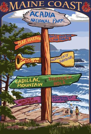Acadia National Park, Maine - Sign Destinations