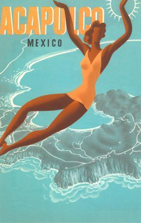 Acapulco, Mexico: Woman and Water