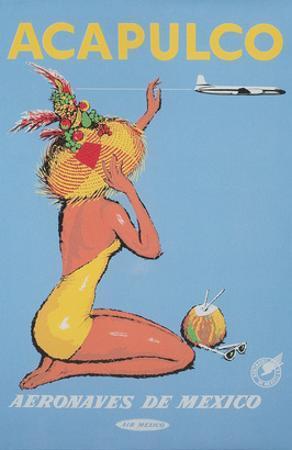Acapulco Travel Poster, Sunbather