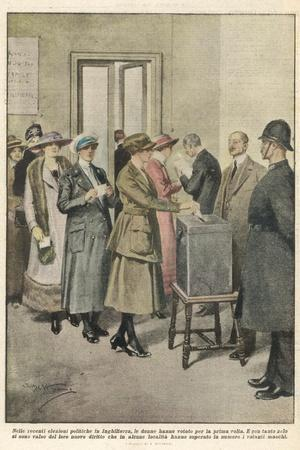 British Women Vote for the First Time