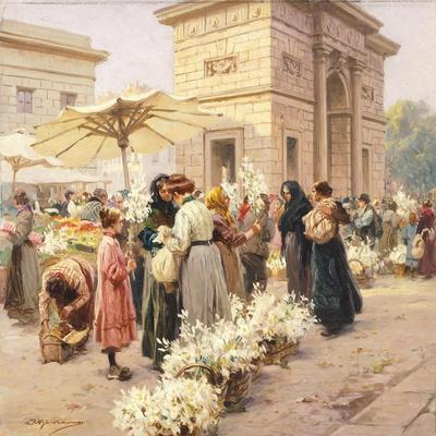 The Lily Market at Porta Garibaldi in Milan