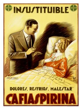 Cafiaspirina Pain Reliever by Achille Luciano Mauzan