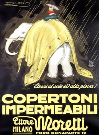 Copertoni Impermeabili Moretti by Achille Luciano Mauzan