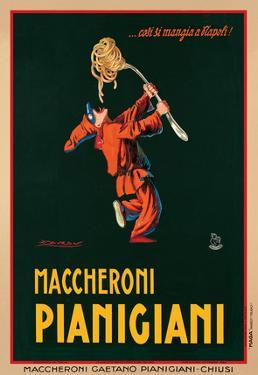 Maccheroni Pianigiani, 1922 by Achille Luciano Mauzan