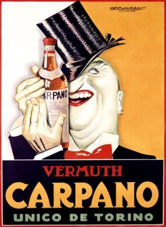 Vermuth Carpano, Unico de Torino by Achille Luciano Mauzan