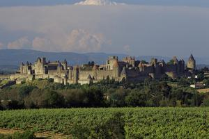 Medieval Hilltop Old Town Fortress in Carcassonne, Department Aude, South of France by Achim Bednorz