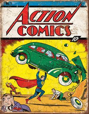 Action Comics Superman No.1 Cover Tin Sign