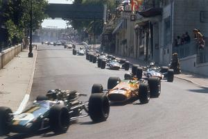 Action from the Monaco Grand Prix, 1968