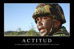 Actitud. Cita Inspiradora Y Póster Motivacional