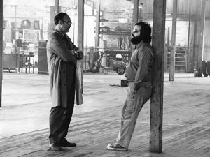 Actor Gene Hackman and film director Francis Ford Coppola on the set of the film The Conversation,