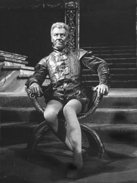 "Actor John Gielgud Portraying Title Role in ""Othello"" at Stratford-Upon-Avon, England"