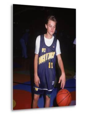 Actor Leonardo Dicaprio in Basketball Uniform