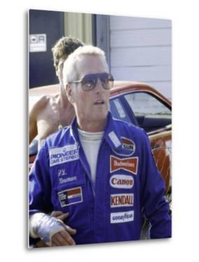 Actor Paul Newman at Car Race