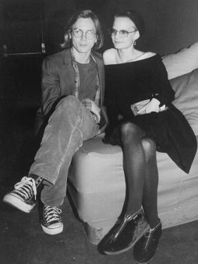 Actors River Phoenix and Martha Plimpton at a Rock Against Fur Concert at the Palladium