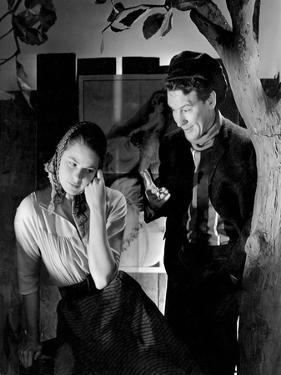 Actress Ingrid Bergman and Actor Burgess Meredith Appearing in Liliom