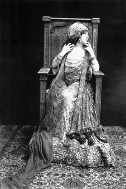 Actress Sarah Bernhardt Seated