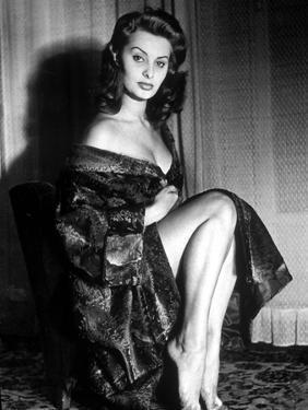 Actress Sophia Loren in 1957