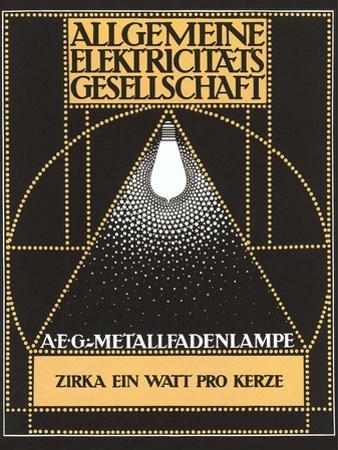 Ad for Allgemaine Electricitaet Gesellshaft