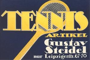 Ad for German Tennis Equipment