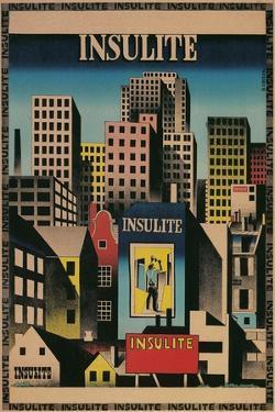 Ad for Insulite Insulation, City Scape