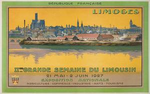 Ad for Limoges Fair, France