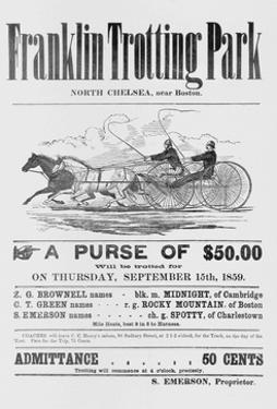 Ad for Trotter Races