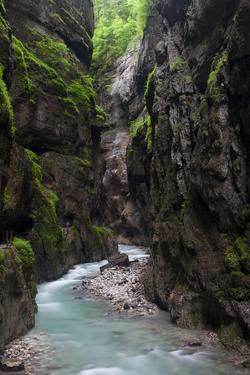 A Crystal Clear Stream Winds it Way Through the Partnacht Gorge in Garmisch-Partenkirchen, Germany by Adam Barker