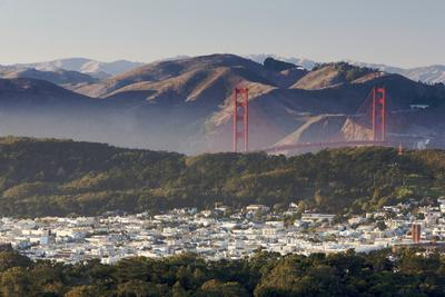 A Scenic View of San Francisco and the Golden Gate Bridge from Twin Peaks Overlook