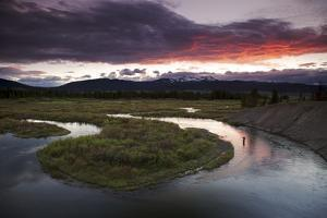 Angler Rob Wood on the South Fork River, Montana by Adam Barker