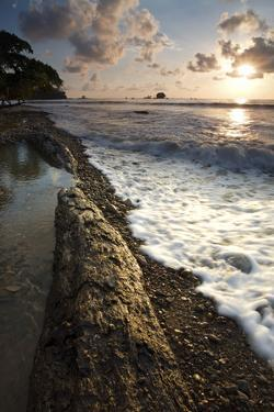 Sunset on the Beach in Playa Dominicalito, Costa Rica by Adam Barker