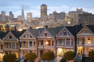 """The """"Painted Ladies"""" Townhouses Stand in Contrast to the Skyscrapers of San Francisco, California by Adam Barker"""