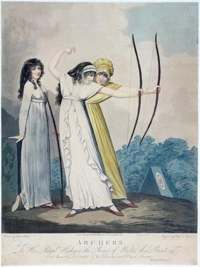 Archers, Engraved by J.H. Wright (Fl.1795-1838) and Conrad Ziegler, 1799 (Aquatint) by Adam Buck