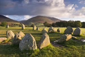 Castlerigg Stone Circle with Blencathra Mountain Behind, Lake District, Cumbria by Adam Burton