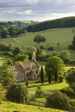 Church of St Mary the Virgin Surrounded by Beautiful Countryside, Lasborough in the Cotswolds by Adam Burton