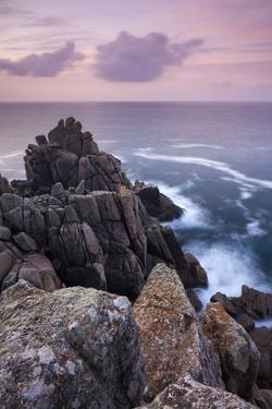 Dawn Skies Above Hella Point Near Porthgwarra, Cornwall, England. Autumn by Adam Burton