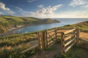 Kissing Gate on the South West Coast Path Near Crackington Haven, Cornwall, England by Adam Burton