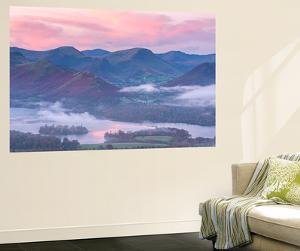Misty Sunrise over Derwent Water and the Newlands Valley, Lake District, Cumbria by Adam Burton