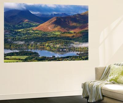 Mountains and Woodland Form a Backdrop to Derwent Water in the Lake District, Cumbria, England by Adam Burton