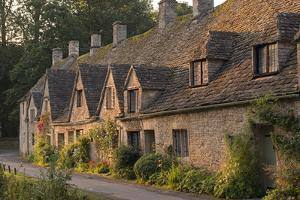 Picturesque Cottages at Arlington Row in the Cotswolds Village of Bibury, Gloucestershire, England by Adam Burton